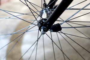 spokes on a bicycle tire