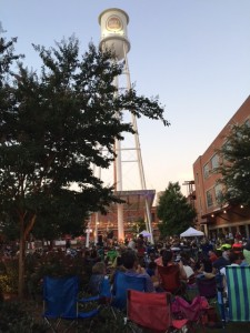 lucky strike tower and back porch concert series attendees in durham nc