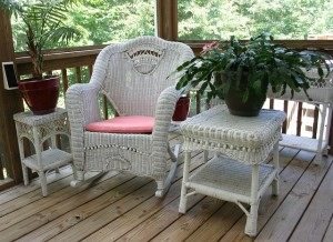 patio furniture on back porch