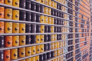 cans of food at a food drive