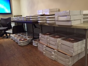 pies lined on a table for Pie Day 2015 at Linda Craft & Team, REALTORS