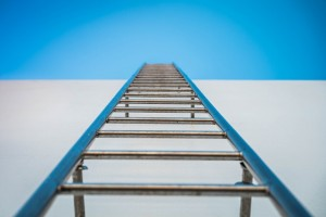 long ladder symbolizing difficult journey