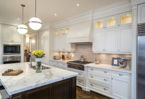 luxury kitchen staged to sell