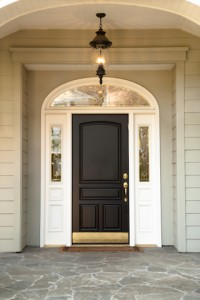clean front door and entryway with no imperfections