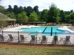 the community pool in North Raleigh's Stonemoor neighborhood