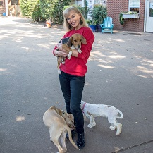 linda craft with pet adoption group