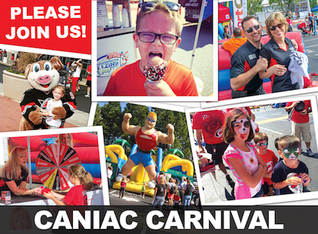 collage of Caniac Carnival activities