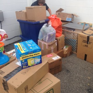 donated goods for Hurricane Matthew relief