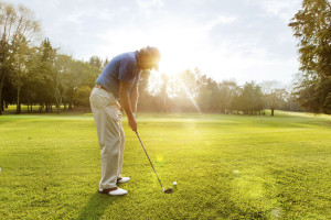 senior adult on the golf course