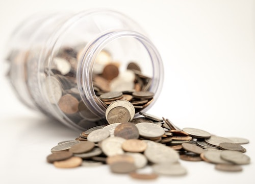 A jar of coins.