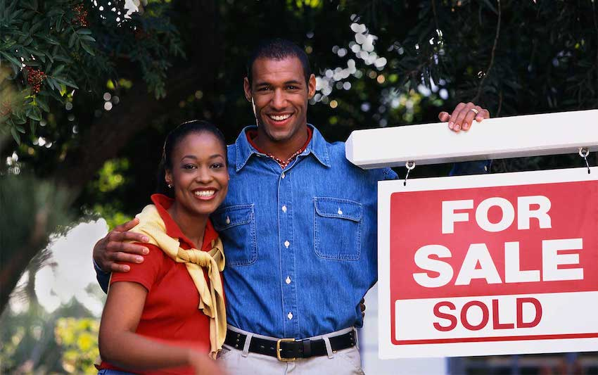 a couple purchasing a home