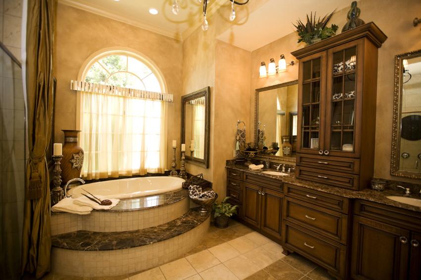 a home with a luxury bathroom