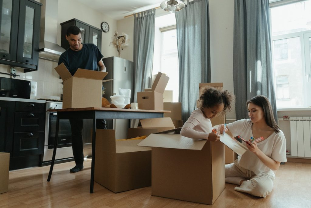 moving into a new home