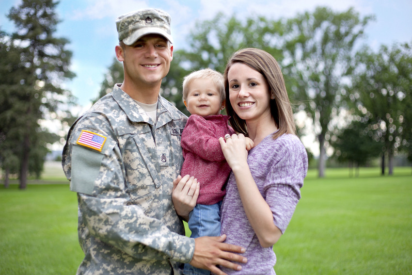 happy military home buyers