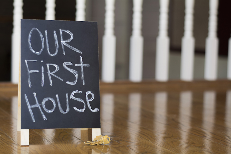 """""""our first house"""" sign"""