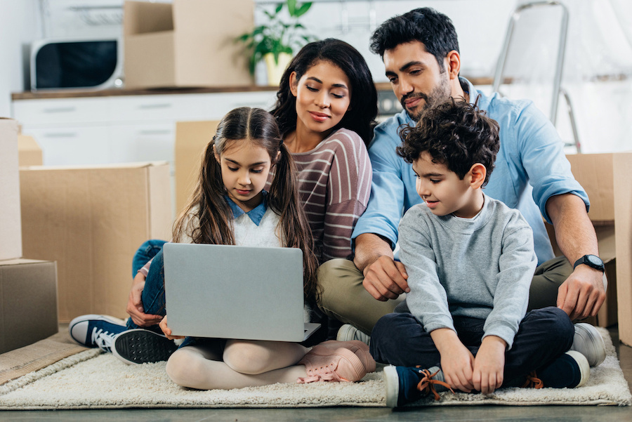 family considering moving to a new home