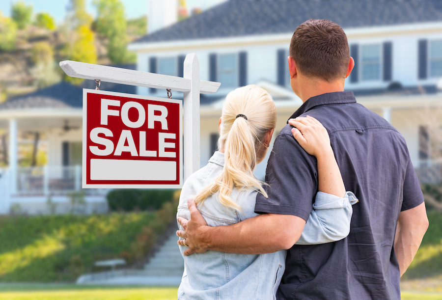 couple selling their home
